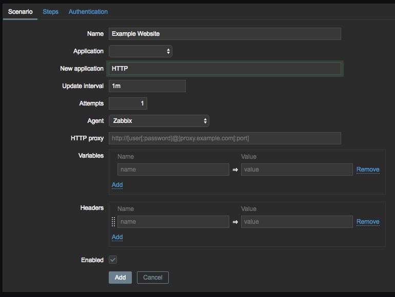 Monitor Website Availability in Zabbix